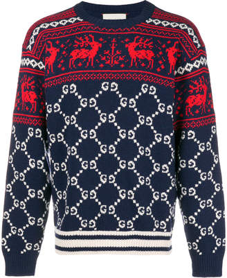 Gucci Crew Neck Sweater In Wool