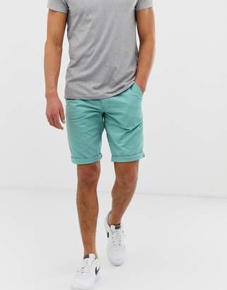 Esprit slim fit chino short in blue