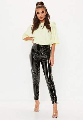 Missguided Black Vinyl Trousers