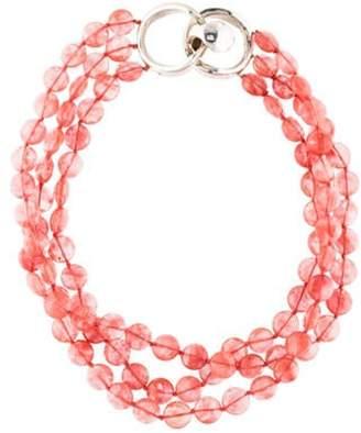 Patricia von Musulin Glass Beaded Multistrand Necklace silver Glass Beaded Multistrand Necklace