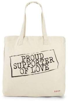 Peace Love World Proud Supporter Of Love Tote