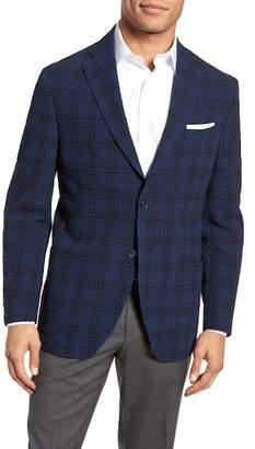 JKT NEW YORK Trent Trim Fit Stretch Cotton Plaid Sport Coat