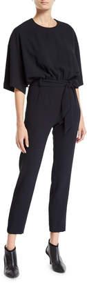 IRO Appreciate 3/4-Sleeve Belted Jumpsuit