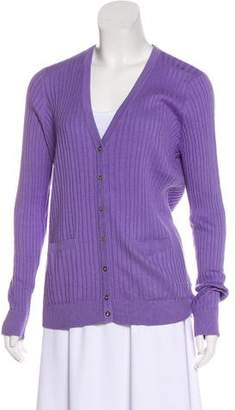 Magaschoni V-Neck Long Sleeve Cardigan