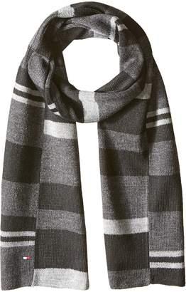 Tommy Hilfiger Men's Piece Color Blocked Stripe Scarf