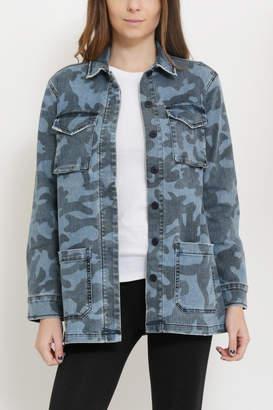 Sneak Peak Camouflage Print Jacket