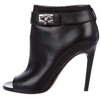 Givenchy Leather Shark Lock Booties