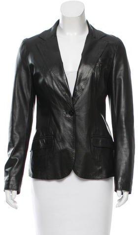 CNC Costume NationalCostume National Leather Notch-Lapel Blazer