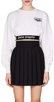 Palm Angels Women's Logo-Hem Cotton Crop T-Shirt