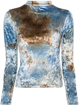 Collina Strada tie-dyed crushed-velvet top