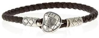 Bottega Veneta - Intrecciato Leather Bracelet - Mens - Brown