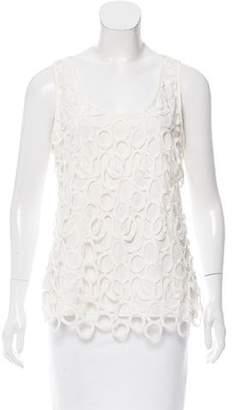Lela Rose Embroidered Sleeveless Top