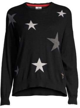 Sundry Star Print Crewneck Top