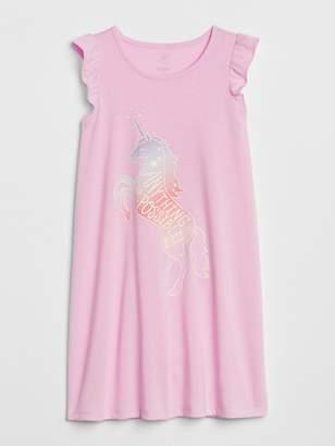 Gap Unicorn Glow-in-the-Dark Flutter PJ Dress