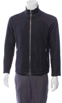 Theory Mock Neck Zip-Up Sweater