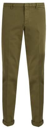 Prada Slim Leg Stretch Cotton Chino Trousers - Mens - Khaki