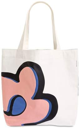 Flowers Printed Cotton Tote Bag