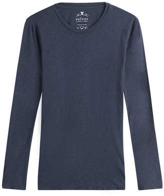 Velvet Long Sleeved Cotton Top