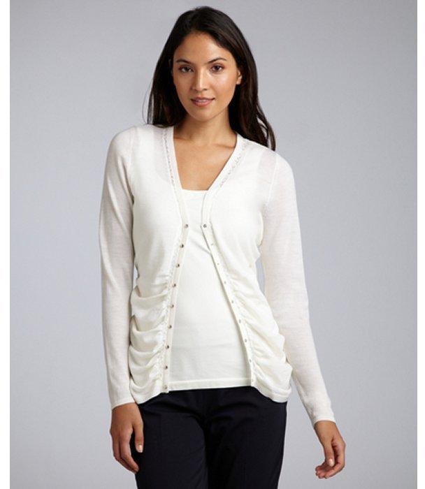 Elie Tahari cream wool 'Letizia' lace detailed sweater