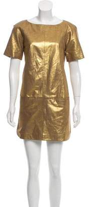 Rebecca Minkoff Lamb Leather Mini Dress