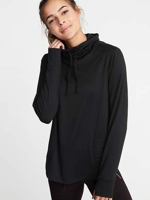 Old Navy Micro-Stripe Funnel-Neck Performance Pullover for Women
