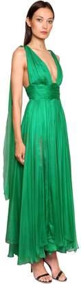 Maria Lucia Hohan Metallic Mousseline Silk Gown