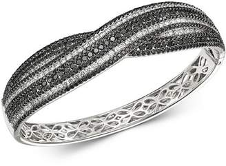 Roberto Coin 18K White Gold Fantasia Black & White Diamond Bangle Bracelet