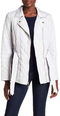 Kensie Quilted Belted Wrap Jacket