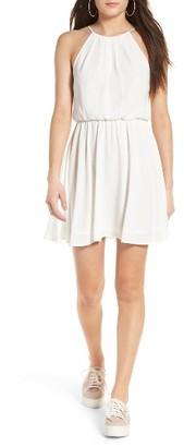 Women's Lush Blouson Chiffon Skater Dress $46 thestylecure.com