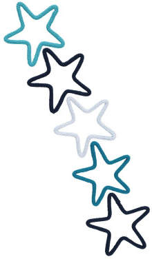 Charlie & June Star Wall Decoration - Set of 5
