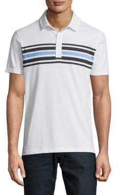 Saks Fifth Avenue Striped Cotton Polo