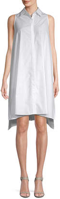 story. White Cotton Shirtdress