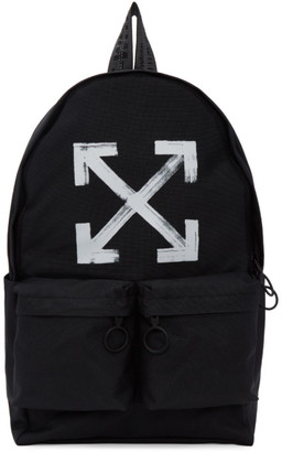 Off-White Black Brushed Arrows Backpack $560 thestylecure.com
