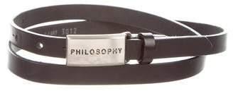 Philosophy di Alberta Ferretti Leather Logo Waist Belt