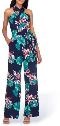 Women's Tahari Palm Print Halter Jumpsuit $138 thestylecure.com