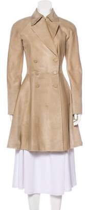 Alaia Double-Breasted Ponyhair Coat w/ Tags