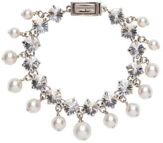 872ac6d5001 Miu Miu crystal and synthetic pearl bracelet