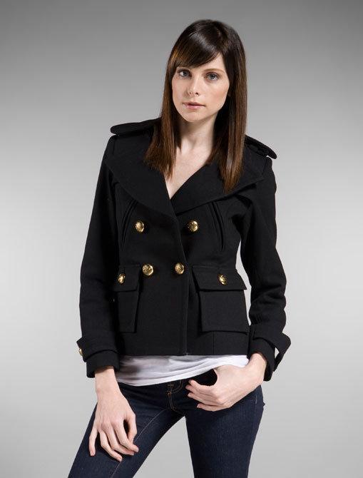Smythe Pea Coat in Black