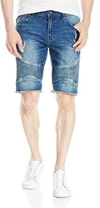 GUESS Men's Slim Sewanne Wash Denim Shorts