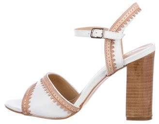 Saks Fifth Avenue Leather Ankle-Strap Sandals