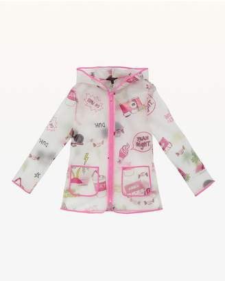 Juicy Couture Beach Doodle Raincoat for Girls