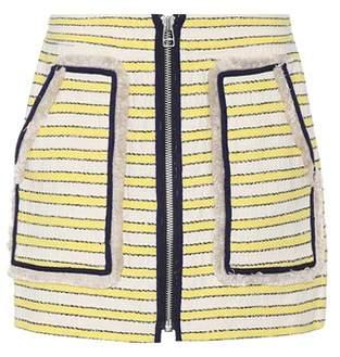 Veronica Beard Lynden tweed miniskirt