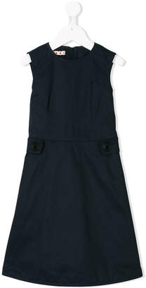 Marni button detail pinafore dress