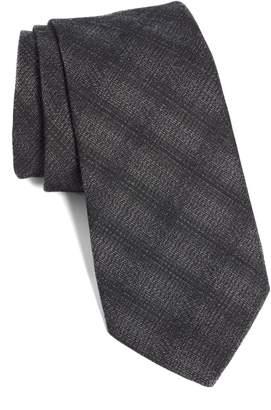 John Varvatos Plaid Cotton Blend Tie
