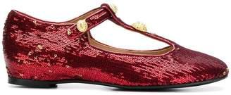 Rue St sequin embellished ballerina shoes