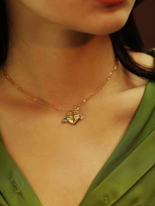 0a1d750010 Shein Half Heart Pendant Chain Necklace 2pcs