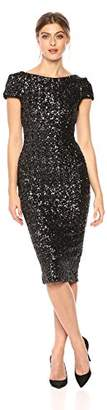 Dress the Population Women's Marcella Cap Sleeve Scoop Back Sequin Midi
