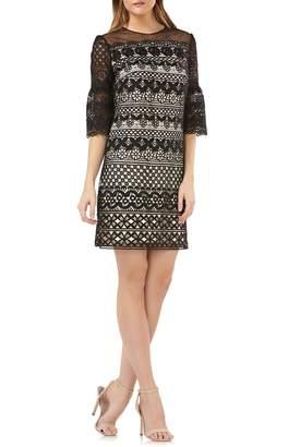 Carmen Marc Valvo Infusion Lace Shift Dress
