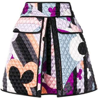 Emilio Pucci short quilted skirt