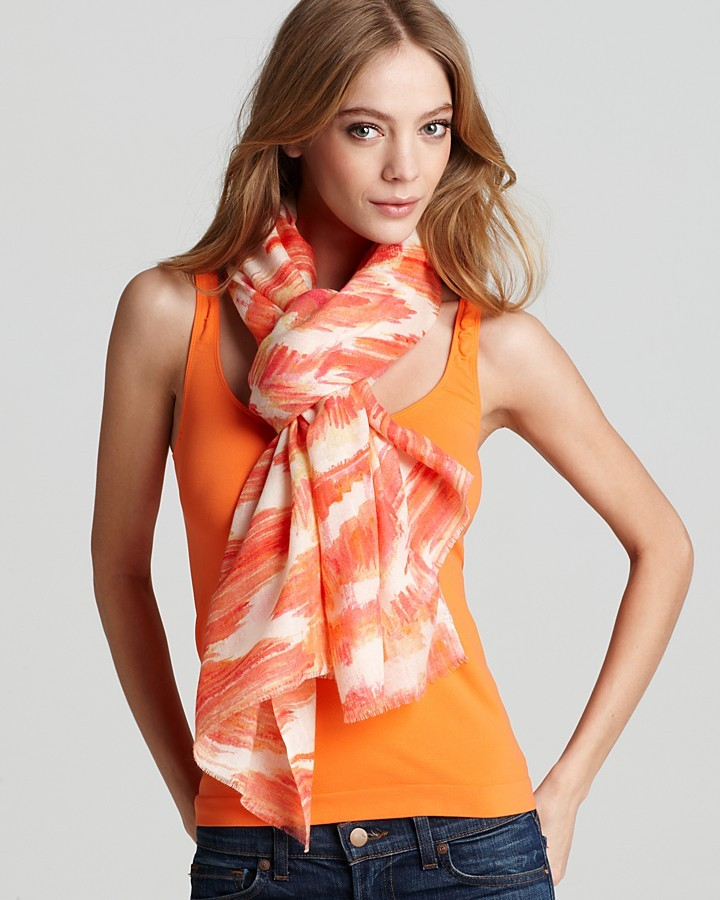 Bindya Ikat Stripe Casual Scarf